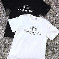Balenciaga Women Men Hot Tunic T-shirt