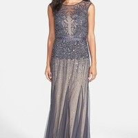 Women's Adrianna Papell Beaded Chiffon Gown