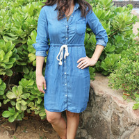 Chambray with Me Denim Dress