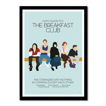 The Breakfast Club // Minimalist Movie Poster // Unique A3 Art Print