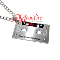 THIRTEEN REASONS WHY Audio Tape Pendant Necklace