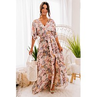 Sweet Waters Floral Maxi Dress (Pink Multi)