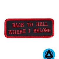 Bananna Bones - Back To Hell Patch