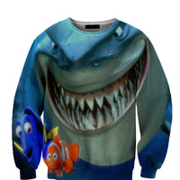 Finding Nemo Shark All Over Custom Sublimated sweatshirt Unisex Women and Men