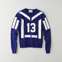 VARSITY EMBROIDERED PULLOVER