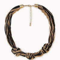 FOREVER 21 Cool Knotted Chain Choker