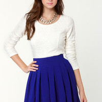 On and On Royal Blue Skirt