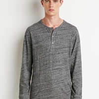 Marled Knit Henley