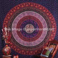 Queen Size Mandala Tapestry, Hippie Indian Tapestries, Psychedelic Wall Hanging, Hippy Hippie  Mandala Tapestries, Bohemian Wall Art