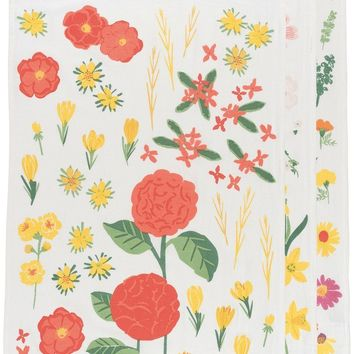 Flowers of the Month Baker's Flour Sack Dish Towels Set of 3