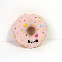 Felt Kawaii Donut Plush