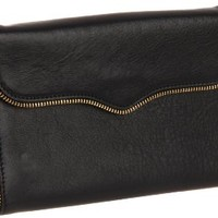 Rebecca Minkoff Mab Chain 15DIMBCF12 Wallet,Black,One Size