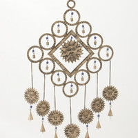 "Pretty Metal Sun Windchime 17""W 36""H"