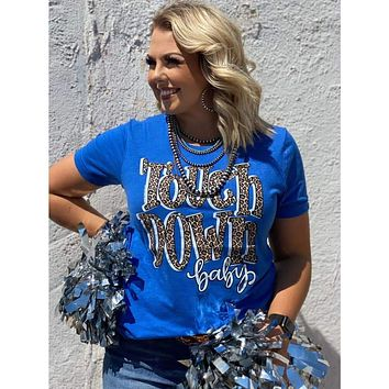 Touchdown Baby Graphic Tee In Royal Blue (S-2XL)