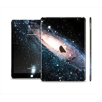 The Swirling Glowing Starry Galaxy Skin Set for the Apple iPad Pro