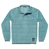 Monmouth Flurry Fleece 1/4 Zip in Teal & Midnight by Southern Marsh