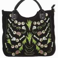 Banned Gothic Emo Spooky Zombie Horror Bats Night Shoulder Bag