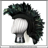 Darkness.... Black Feather Mohawk