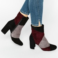 Glamorous | Glamorous Patchwork Heeled Ankle Boots at ASOS