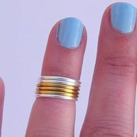 6 Knuckle Rings  - Mid Knuckle Rings - Stackable Rings -  You Chose Color - Gift Under 20 by Tiny Box