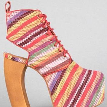 The Lana Shoe in Red Multi Stripe by Jeffrey Campbell Shoes | Karmaloop.com - Global Concrete Culture
