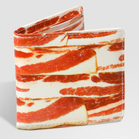 Bacon Wallet | Faux Leather Bacon Print Wallet | fredflare.com