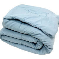 High Quality Oversized Down Alternative Comforter Super Soft 90 GSM- Light Blue