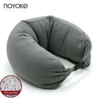 NOYOKE Japanese-style Polystyrene EPS Particles U-shape Pillow Travel Neck Pillow Cotton Nylon Comfortable Neck Pillow
