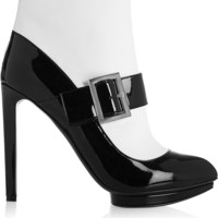 Alexander McQueen - Two-tone patent-leather ankle boots