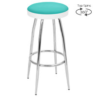 TopSpin Barstools (Set of 2), Light Blue