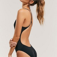 Nike Poly Core Performance Cutout One-Piece Swimsuit | Urban Outfitters