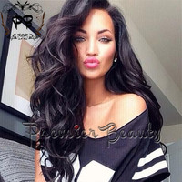 Freeshipping UPS,Natural wavy glueless full lace wigs with baby hair bleached knots100% brazilian hair human hair lace wig