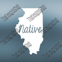 Illinois Home State Svg Dxf Pdf Jpg Cut File | Illinois pdf File | Love JPG Sticker | Svg Dxf Jpg PDF | Digital Download | Silhouette |524