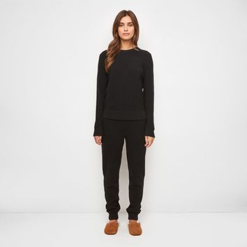 Cashmere Thermal Sweatpant - Black