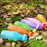 Popular 550ml Portable Fall Candy Color Frosted Leak Proof Not To Break The Soda Bottle Travel Mug Plastic Water Bottles = 1958435908