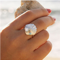New Fashion Jewelry Shell Designed Finger Ring Fashion Metal Shell Rings