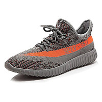 Men Women Non Slip Breathable Sneakers Unisex Casual Fashion Sport Shoes Grey Orange 45