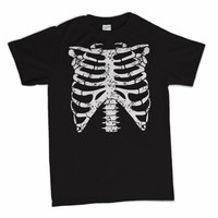 Rib Cage Skeleton Horror Punk Goth Halloween Costume T-Shirt Your Choice of S,M,L,XL,2XL,3XL Tee Shirt Tshirt Mens Womens Kids S-3XL