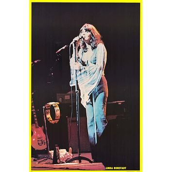 """Poster: Linda Ronstadt - On Stage (23""""x35"""")"""