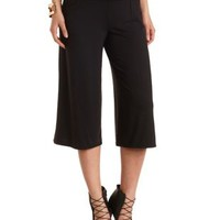 High-Waisted Knit Gaucho Pants by Charlotte Russe