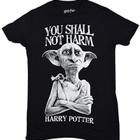 Harry Potter Dobby Shall Not Harm Mens Black T-shirt