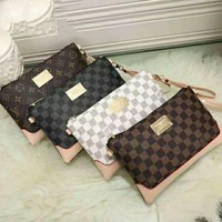 One-nice™ LV Small Satchel Women Leather Purse Wallet H-LLBPFSH