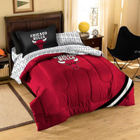 Chicago Bulls NBA Bed in a Bag (Contrast Series)(Twin)