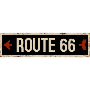 Personalized Black Left Arrow Street Sign Wood Sign