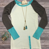 The Time is Right Tunic Top: Mint