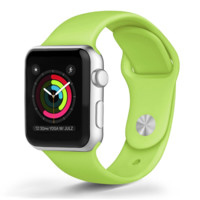 Apple - Apple Watch™ Soft Silicone Bands Green (38mm)