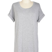 Simplicity on a Saturday Top in Grey | Mod Retro Vintage Short Sleeve Shirts | ModCloth.com