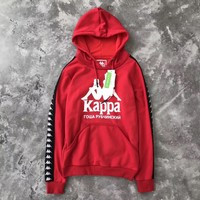 Kappa x Gosha Woman Men Fashion Hooded Top Sweater Pullover Hoodie-1