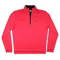 Longshanks 1/4 Performance Pullover in Red & Black by Country Club Prep