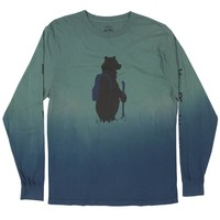 Bear on a Hike L/S full body Dip Dye graphic tee
